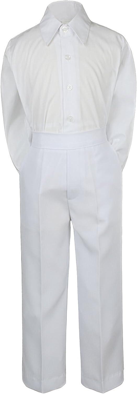LEADERTUX 2pc Baboy Kid Teen Formal Party Tuxedo Suit Dress Shirt /& White Pants Sm-7