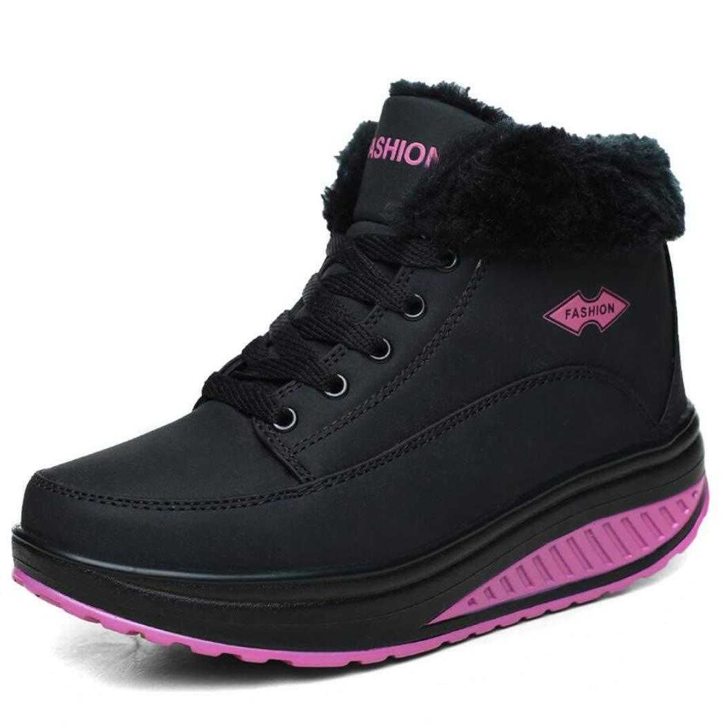 Frauen Casual Mode Schuhe Plus Samt Shaker dicken Boden erhöht Baumwolle Schuhe Leder Gesicht warme Mutter Casual Schuhe Rutschfeste
