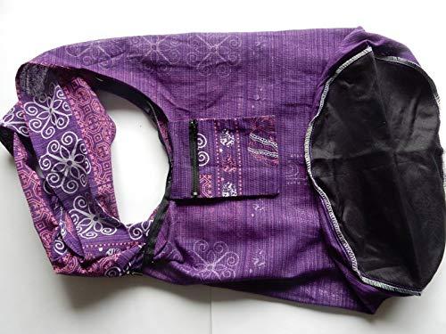 Pour Violett Bleu Thaishop Ariyas Bandoulière Sac Bunt Grand Modèle noir Femme Bleu TqwtHgH