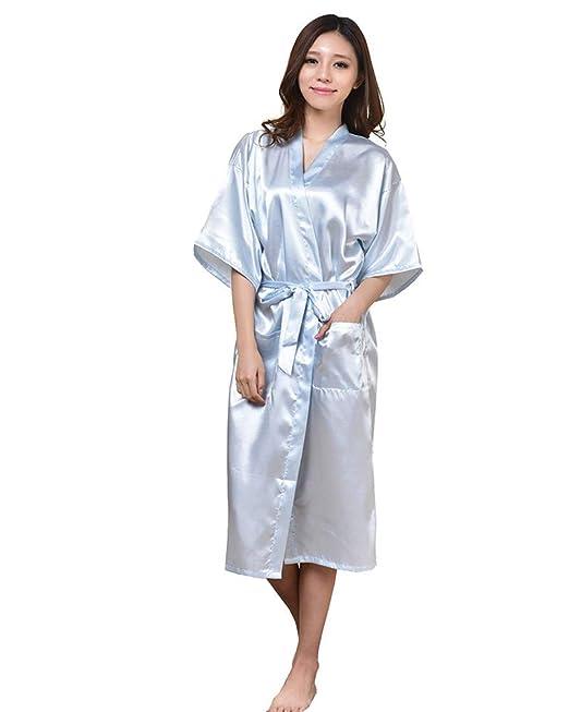 Damas Casual Vintage Retro Bata para Mujeres Sexy de Gran Tamaño Pijama Lencería Kimono Corto de