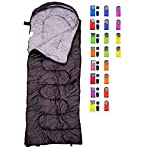 REVALCAMP Sleeping Bag For Cold Weather 4 Season Envelope Shape Bags By Great For Kids Teens Adults Warm And Lightweight Perfect For Hiking Backpacking Camping Black Envelope Right Zip