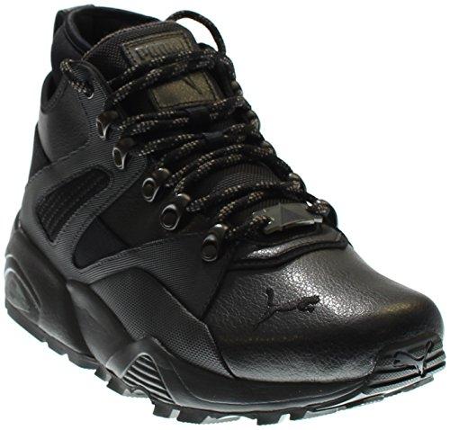 PUMA Men's b.o.g Sock Boot Fashion Sneaker, Dark Shadow Black, 8.5 M US (Shadow Puma Dark Black)