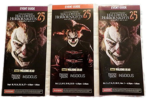 Halloween Horror Nights 25 Map Set of 3 Universal Studios 2015]()