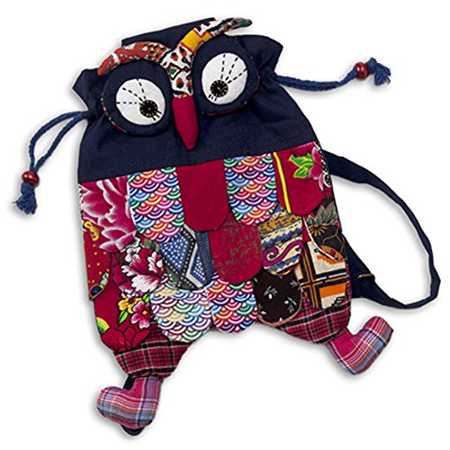 Holly The Owl Child Costumes (Toddler Children Boys Girls Kindergarten Pre School Navy Blue Owl Backpack Knapsack)