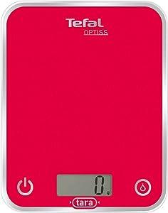 Balance de Cuisine Électronique Optiss BC5003V1 5kg/1g Fonction Tare Conversion Liquide Ecran LCD Framboise
