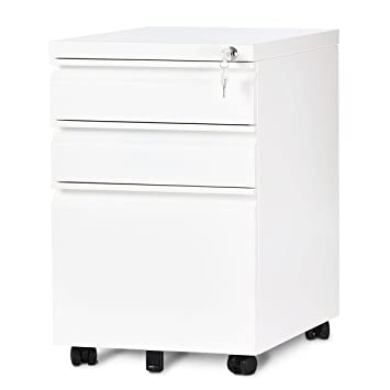 DEVAISE 3 Drawer Mobile File Cabinet With Lock, 19.7u0026quot; Depth, Legal/