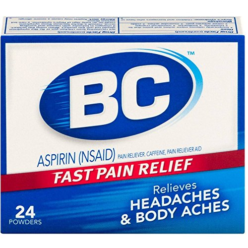 BC Original Formula Aspirin Fast Pain Relief Powders 24 ea (Pack of 6) from BC Powders