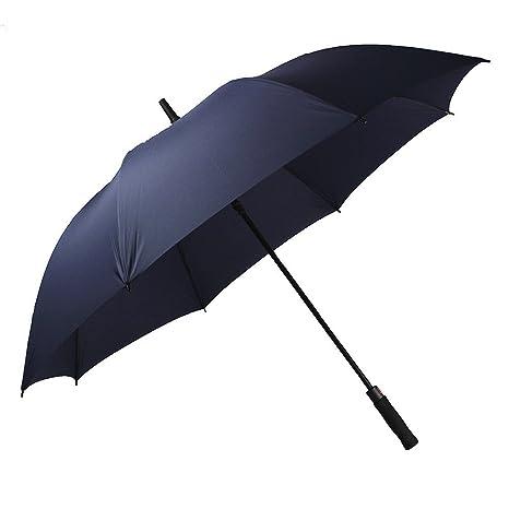 Paraguas Automático Grande 130cm de diámetro Con Doble Cubiertapara Resistencia Óptima contra el Viento y la
