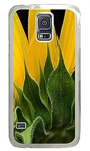 Samsung S5 cases design Flower 2 PC Transparent Custom Samsung Galaxy S5 Case Cover