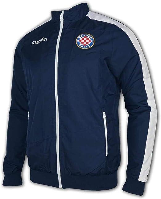 Macron Hajduk Split Sweatshirt blau Hajduk Fanartikel Pullover Sweater Kroatien