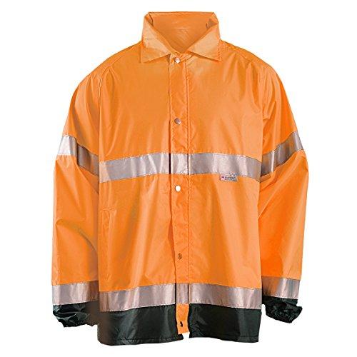 Occunomix Rainwear - OccuNomix LUX-TJR-OS Premium Breathable Waterproof Rain Jacket, Classic Length, Class 3, Orange, Small