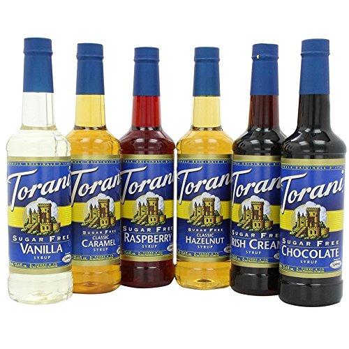Diet Chocolate Soda (Torani Sugar Free Syrup Variety Pack, 25.4 Ounce (Pack of 6))