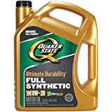 Quaker State Ultimate Durability Full Synthetic 0W-20 Motor Oil (5-Quart, Single Pack)