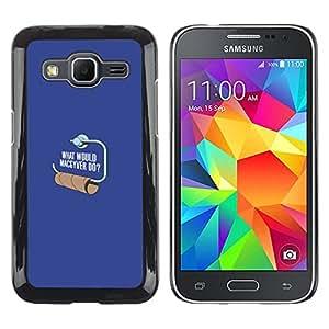 A-type Arte & diseño plástico duro Fundas Cover Cubre Hard Case Cover para Samsung Galaxy Core Prime (¿Dónde está tu Dios papel higiénico - Gracioso)