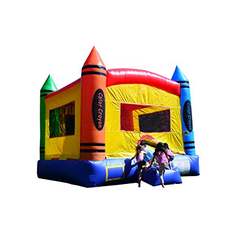 - JumpOrange Duralite Crayon Party House Bounce House Backyard Party Moonwalk Size 13'x13'