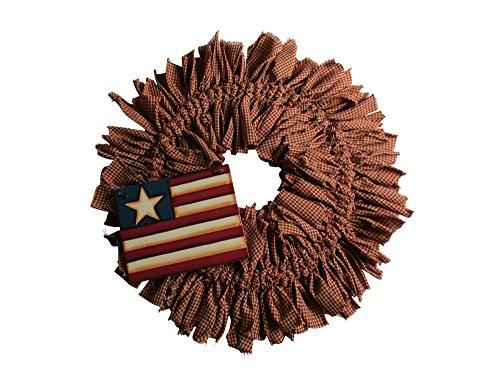 (Primitive Americana Rag Wreath)