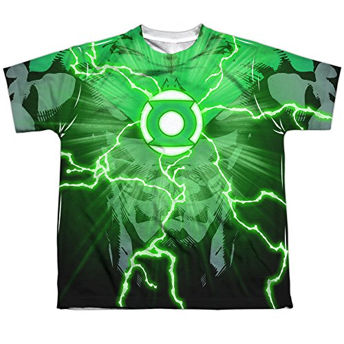 [Green Lantern DC Comics Superhero John Stewart Costume Big Boys 2Side Print Tee] (Kyle Rayner Costumes)
