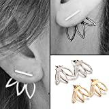 EASTERUP 2 Pair Lotus Flower Jewelry Simple Chic Earrings Best Gift for Women/Girls