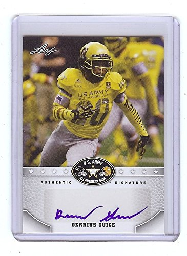 DERRIUS GUICE 2015 LSU Tigers Football - U.S. Army - RC Certified AUTOGRAPH from Leaf