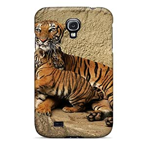 Snap-on Case Designed For Galaxy S4- Tigers