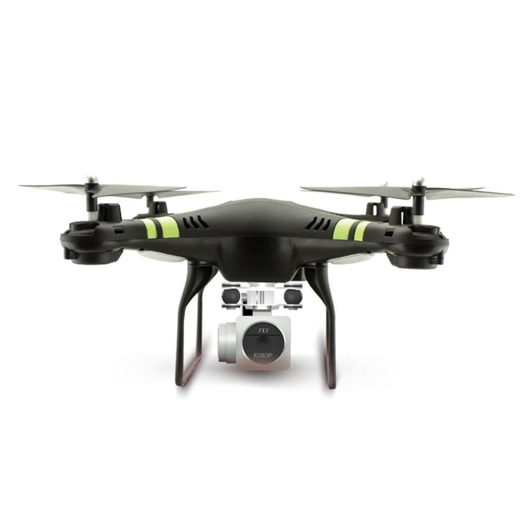 fullfun Altitude Hold HDカメラRCドローンWiFi FPVクアッドコプターLiveヘリコプター、360度 ブラック Quadcopter B079R48TDNブラック