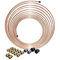"""3//16/"""" Brake Line 40 INCH STAINLESS STEEL 3//8-24 Tube Nuts 45 Degree Double Flare"""