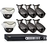 Q-See QT718-8F4-2 8-Channel 1080p SDI Surveillance DVR System with 8 HD 1080p Cameras and Pre-installed 2TB Hard Drive (Grey)