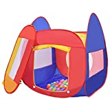 USA_BEST_SELLER Play House Indoor Outdoor Toy Tent Portable Cartoon Tent Kid Play House Toy Tent with 100 Balls