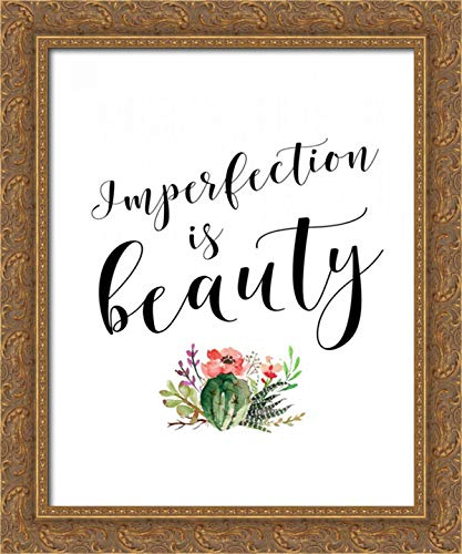 (Imperfection is Beauty 20x24 Gold Ornate Wood Framed Canvas Art by Moss, Tara)