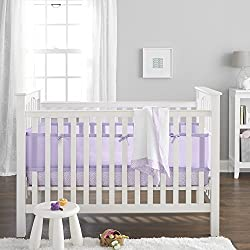 BreathableBaby 3 Piece Core Bedding Set, Lavender Purple