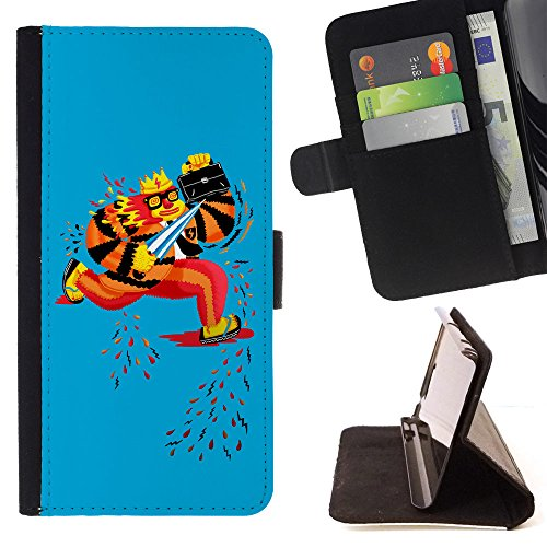 Bob Marley Fighter (BOOK CASE - FOR Samsung Galaxy S6 Edge Plus - Running king fighter - Folio PU Wallert Leather Case)