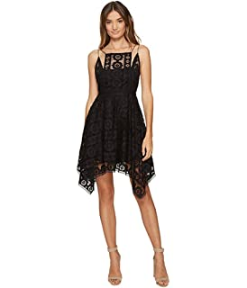 8fdef5fcd0da Free People Womens Cap Sleeves Illusion Semi-Formal Dress at Amazon ...