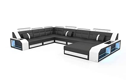Amazon.com: Sectional Sofa Houston XL with LED lights by Sofadreams ...