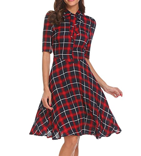 Plaid Belted Trench - 5