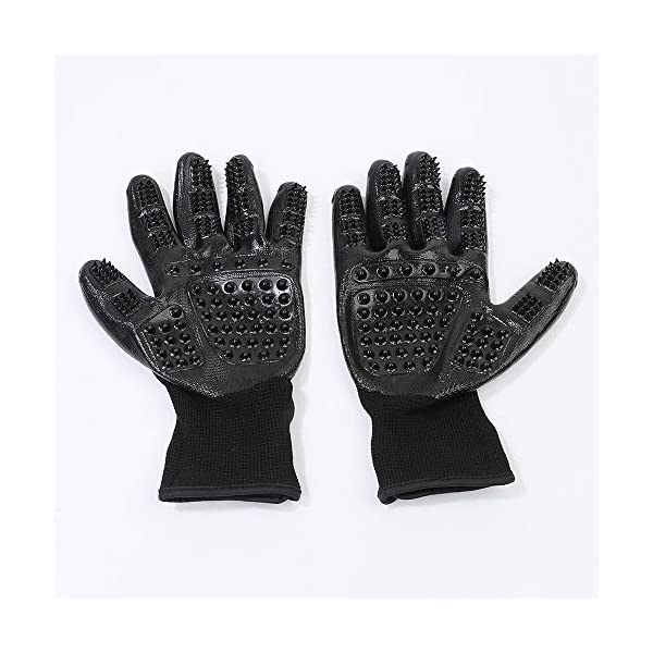 ChuangYe 2Pcs Pet Grooming Glove for Dogs Cats and Horses Pet Hair Remover and Massage Glove 6