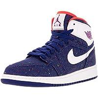 promo code 49e1e 5d99d Jordan Nike Kids Air 1 Retro High GG Deep Royal Blue White Prpl DSK