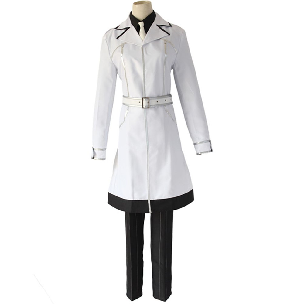Ainiel Mens Anime Costume Cosplay Suit Uniform with Long White Coat