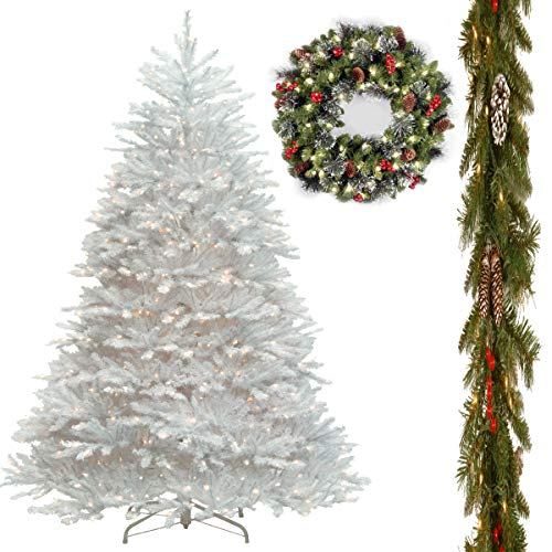 (7 1/2' Dunhill Fir White Hinged Tree with 9' x 10