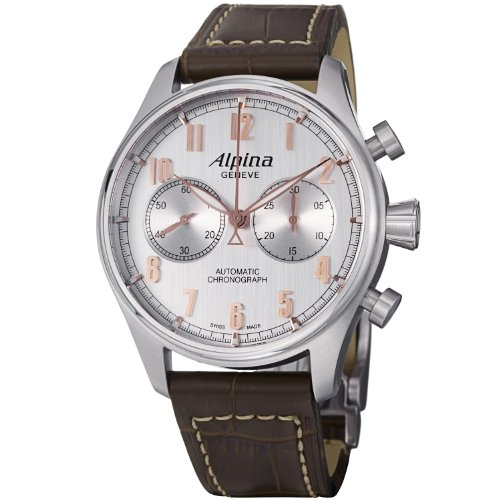 Alpina Men's AL860SCR4S6 Analog Display Swiss Automatic Brown Watch