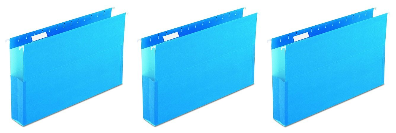 Pendaflex 59302 SureHook Reinforced Hanging Box Files, 2'' Expansion, Legal, Blue (Box of 25) (3 X Pack of 25)
