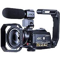 Videocamera 4K Camcorder ORDRO WiFi Ultra HD Vlog Camera voor YouTube, IR Nachtzicht Videorecorder met microfoon, Brede…