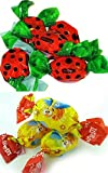Mix of Roshen Crazy Bee Jelly Candy & Roshen Ladybug Jelly Candy (2Lb (1Lb Each))