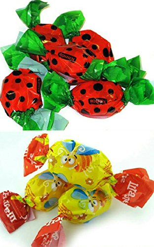 Mix of Roshen Crazy Bee Jelly Candy & Roshen Ladybug Jelly Candy (1Lb (.5Lb ()