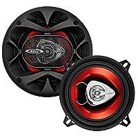 BOSS Audio CH5520 Altavoces para automóvil - 200 vatios de potencia por par y 100 vatios cada uno, 5,25 pulgadas, rango completo, 2 vías, vendido en pares, fácil montaje