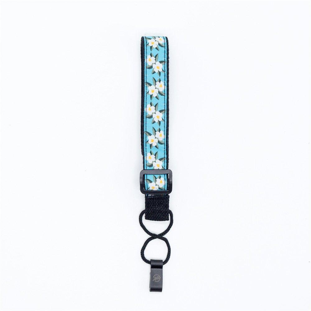 CLOUDMUSIC Ukulele Hook Strap Strap Button Free For Soprano Concert Tenor Baritone Orange Flowers In Blue