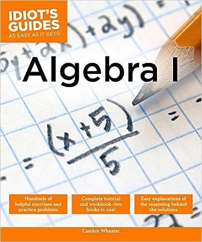 Algebra I (Idiot's Guides) book