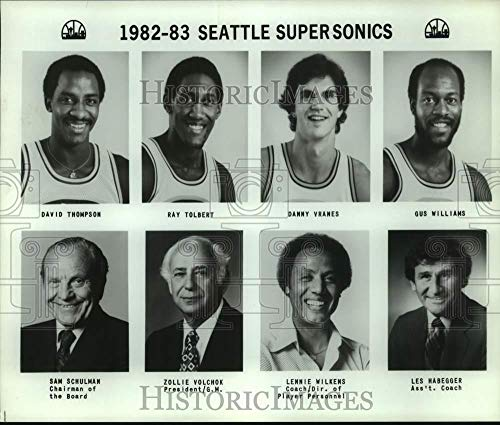 (1982 Press Photo Seattle SuperSonics basketball mug shots - sas17827 )