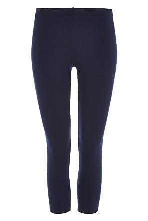 Roman Originals Women/'s Navy Cropped Leggings Sizes 10-20