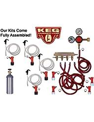 4 Keg Basic Pin Lock Kit With 5 Air Cylinder Taprite Regulator