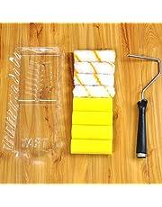 10 Stück 10,2 cm kleine Farbrollen Schaumstoff Farbroller Malerpinsel Lackroller Abdeckung Schaum Farbtablett Werkzeuge Heimwerkerwerkzeug